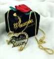 Gold Plated Customise Name Pendants