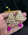 GOLDEN BASED KUNDAN STONES EARRING