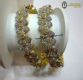 DECENT LOOK GOLD PLATED ZIRCON INDIAN BANGLE