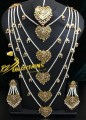 HYDERABADI DESIGN 5 LAYERS LONG MALA SET