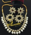 GOLDEN BASED KUNDAN STONES NECKLACE SET